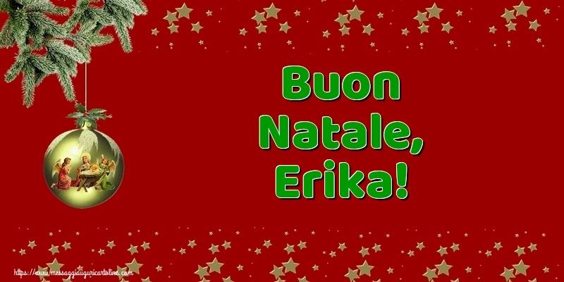 Cartoline di Natale - Buon Natale, Erika!
