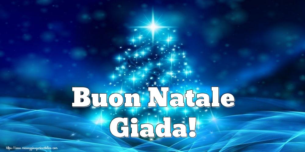 Cartoline di Natale - Buon Natale Giada!