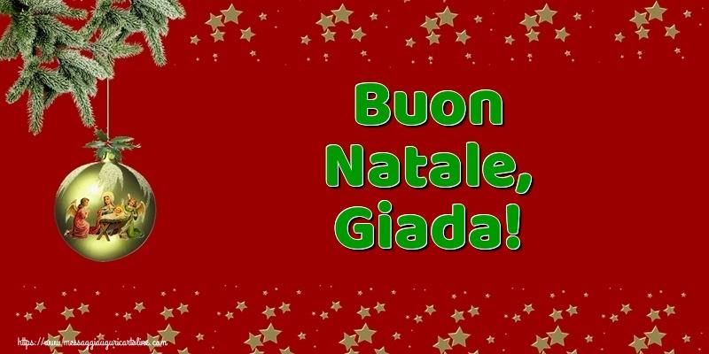Cartoline di Natale - Buon Natale, Giada!