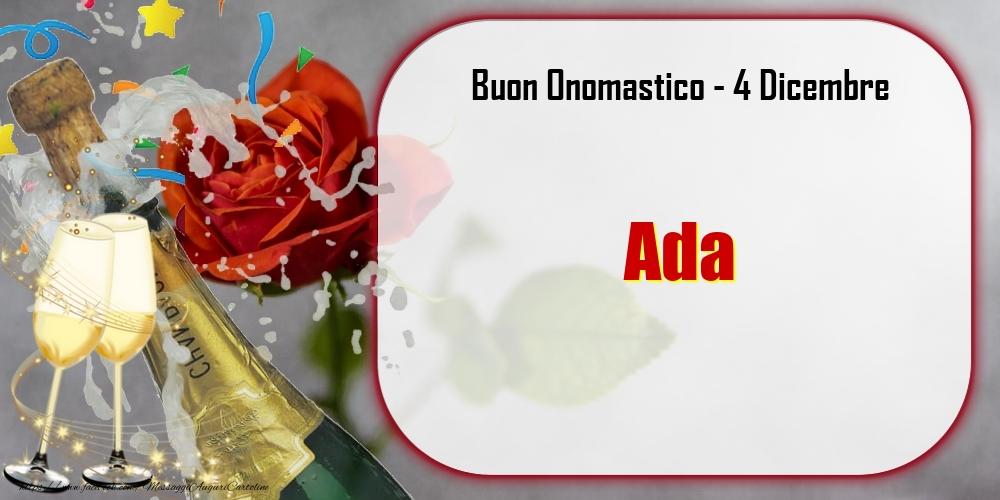 Cartoline di onomastico - Buon Onomastico, Ada! 4 Dicembre