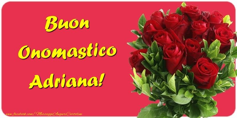 Cartoline di onomastico - Buon Onomastico Adriana