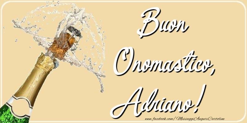 Cartoline di onomastico - Buon Onomastico, Adriano