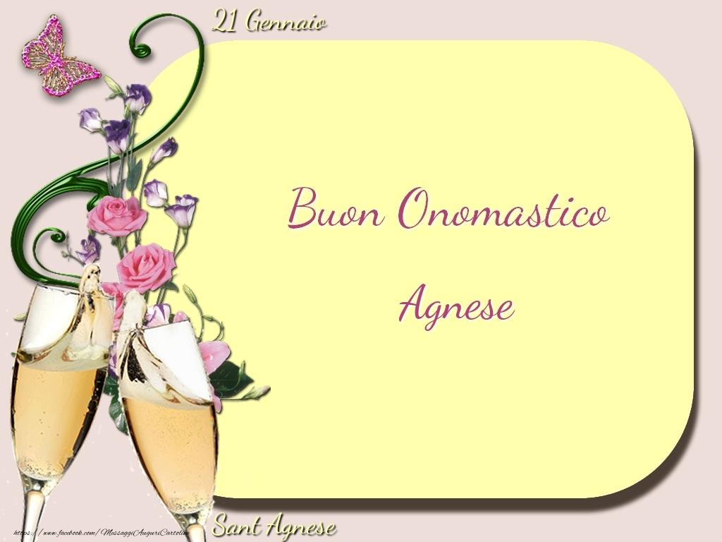 Cartoline di onomastico - Sant Agnese Buon Onomastico, Agnese! 21 Gennaio