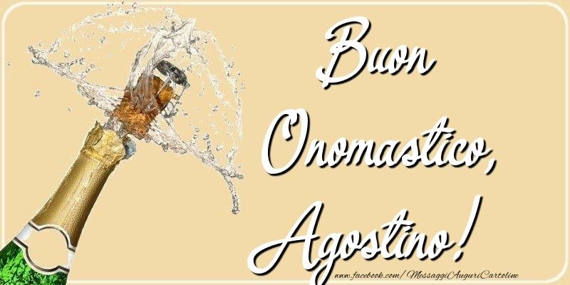 Cartoline di onomastico - Buon Onomastico, Agostino