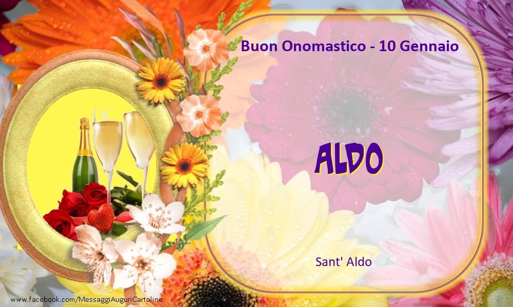 Cartoline di onomastico - Sant' Aldo Buon Onomastico, Aldo! 10 Gennaio