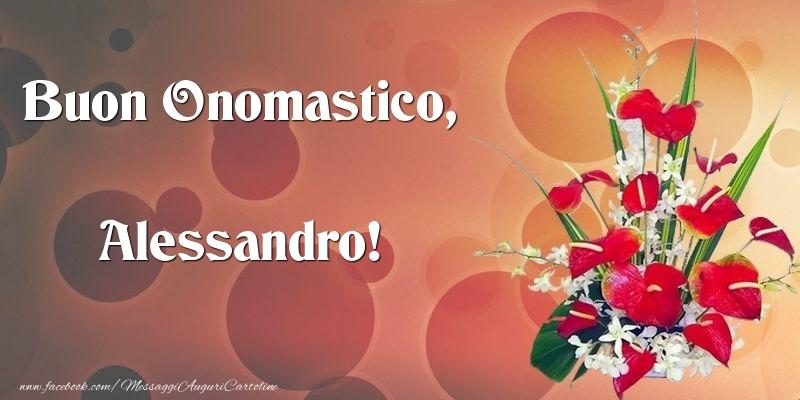 Cartoline di onomastico - Buon Onomastico, Alessandro