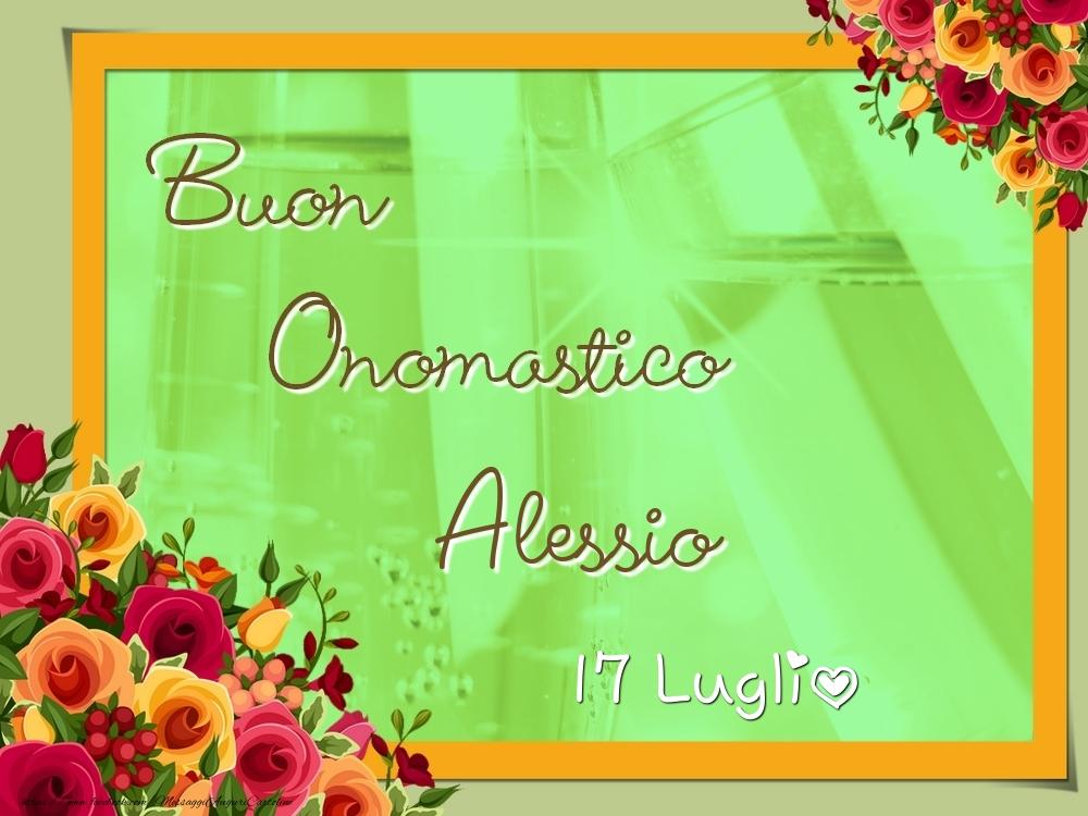 Cartoline di onomastico - Buon Onomastico, Alessio! 17 Luglio