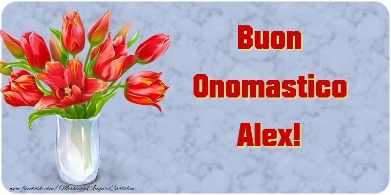 Cartoline di onomastico - Buon Onomastico Alex
