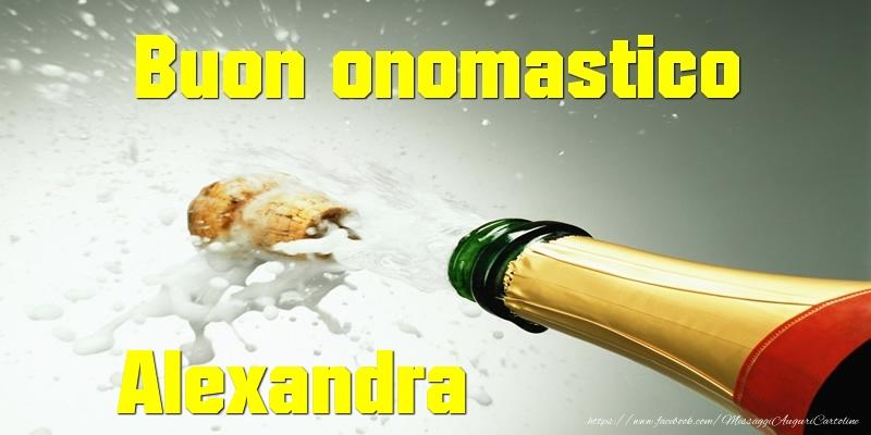 Cartoline di onomastico - Buon onomastico Alexandra