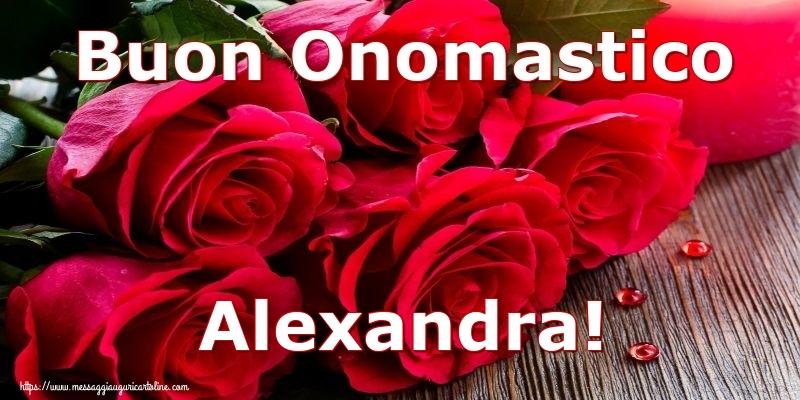 Cartoline di onomastico - Buon Onomastico Alexandra!
