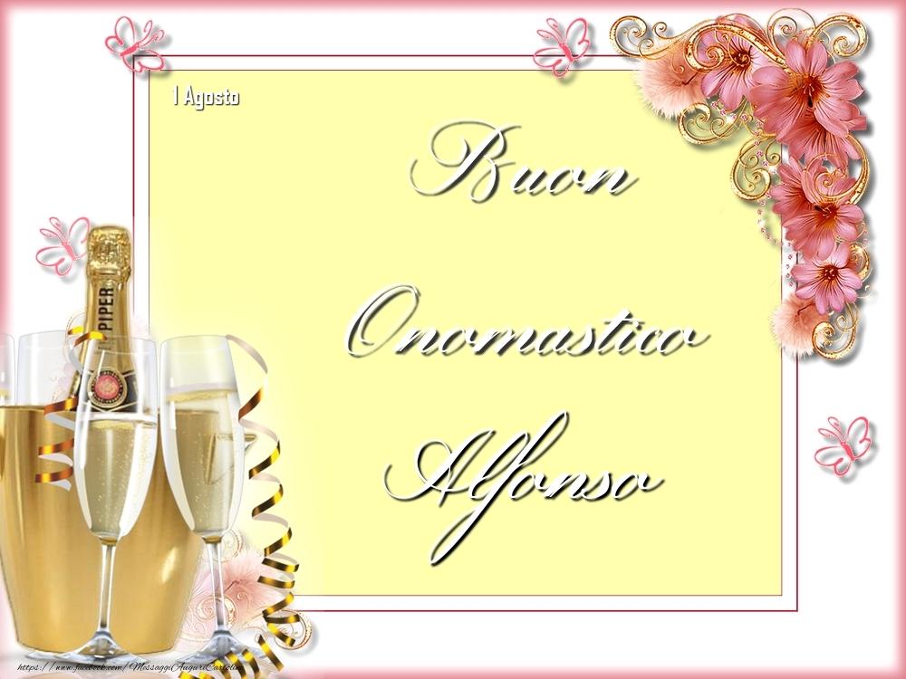 Cartoline di onomastico - Buon Onomastico, Alfonso! 1 Agosto