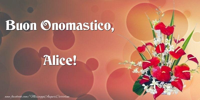 Cartoline di onomastico - Buon Onomastico, Alice
