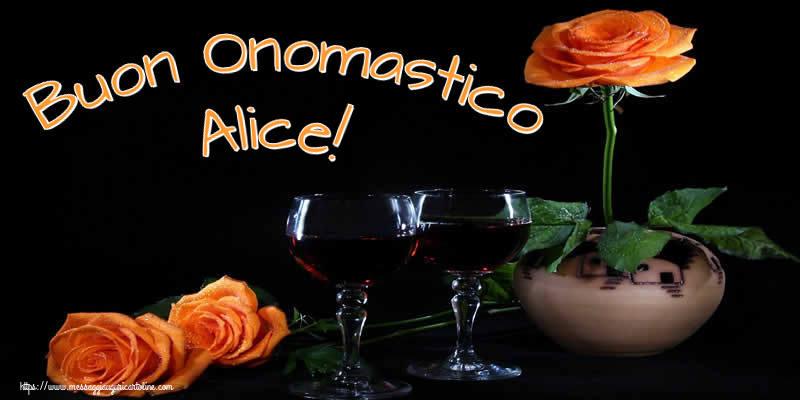 Cartoline di onomastico - Buon Onomastico Alice!