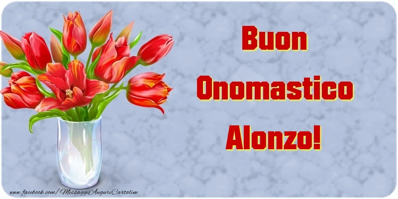 Cartoline di onomastico - Buon Onomastico Alonzo