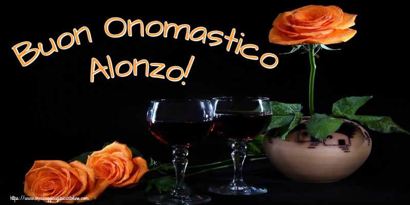 Cartoline di onomastico - Buon Onomastico Alonzo!