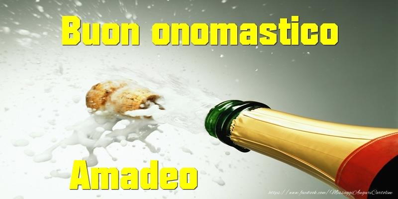 Cartoline di onomastico - Buon onomastico Amadeo