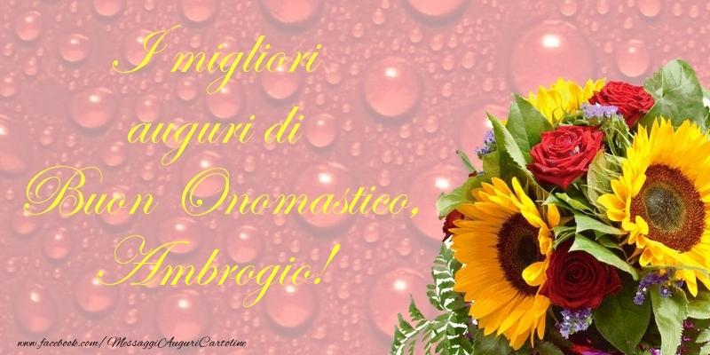 Cartoline di onomastico - I migliori auguri di Buon Onomastico, Ambrogio