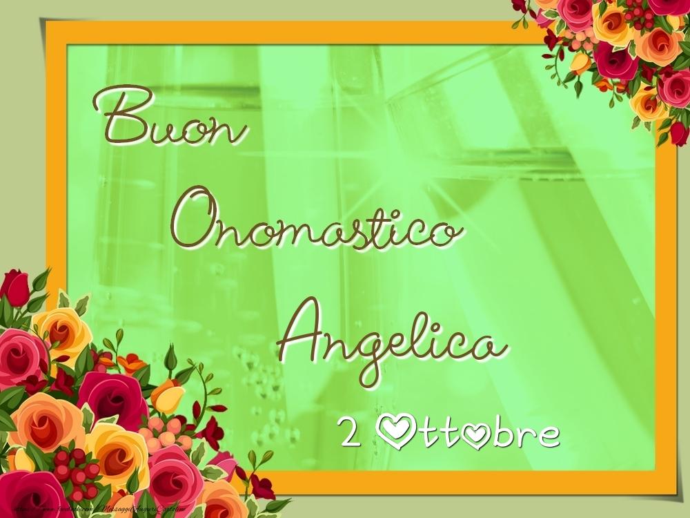 Cartoline di onomastico - Buon Onomastico, Angelica! 2 Ottobre