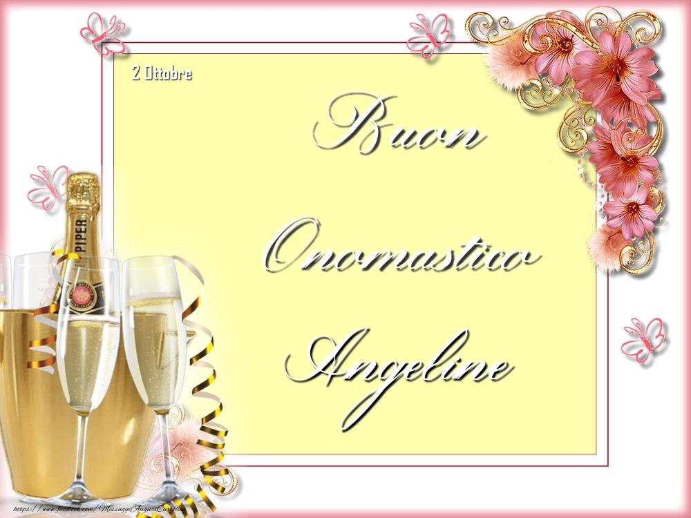 Cartoline di onomastico - Buon Onomastico, Angeline! 2 Ottobre