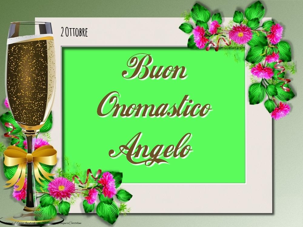 Cartoline di onomastico - Buon Onomastico, Angelo! 2 Ottobre