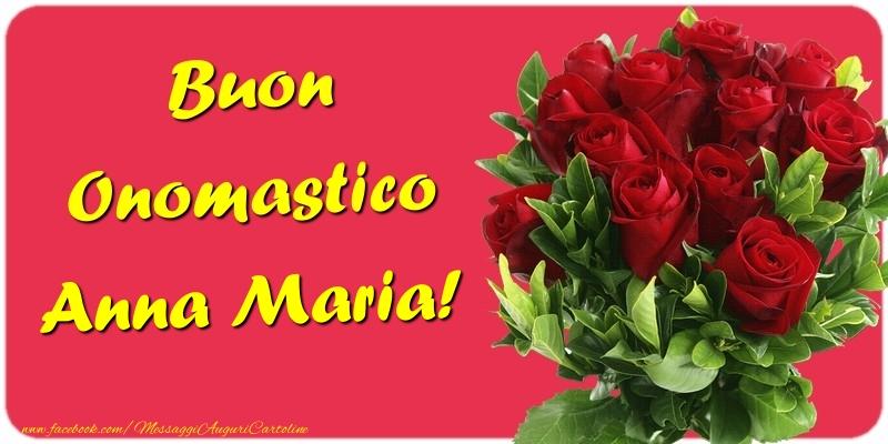 Cartoline di onomastico - Buon Onomastico Anna Maria
