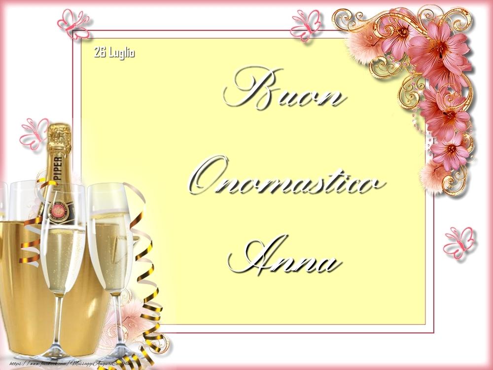 Cartoline di onomastico - Buon Onomastico, Anna! 26 Luglio