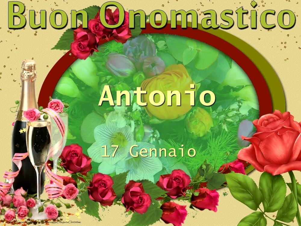 Cartoline di onomastico - Buon Onomastico, Antonio! 17 Gennaio