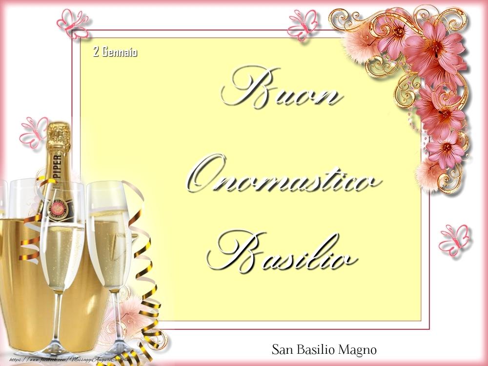 Cartoline di onomastico - San Basilio Magno Buon Onomastico, Basilio! 2 Gennaio