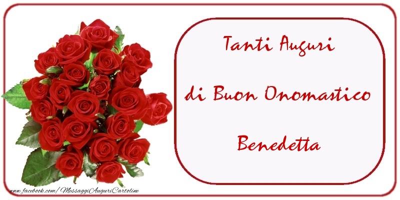 Cartoline di onomastico - Tanti Auguri di Buon Onomastico Benedetta