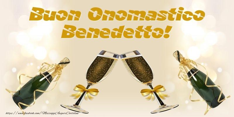 Cartoline di onomastico - Buon Onomastico Benedetto!