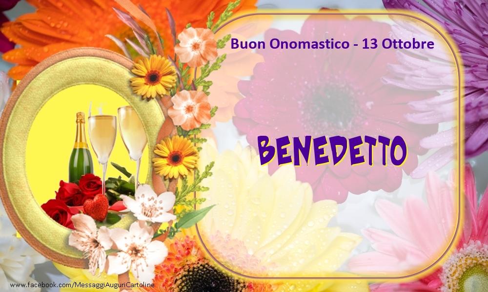 Cartoline di onomastico - Buon Onomastico, Benedetto! 13 Ottobre