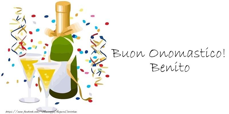 Cartoline di onomastico - Buon Onomastico! Benito