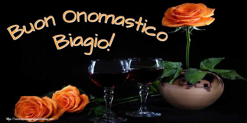 Cartoline di onomastico - Buon Onomastico Biagio!
