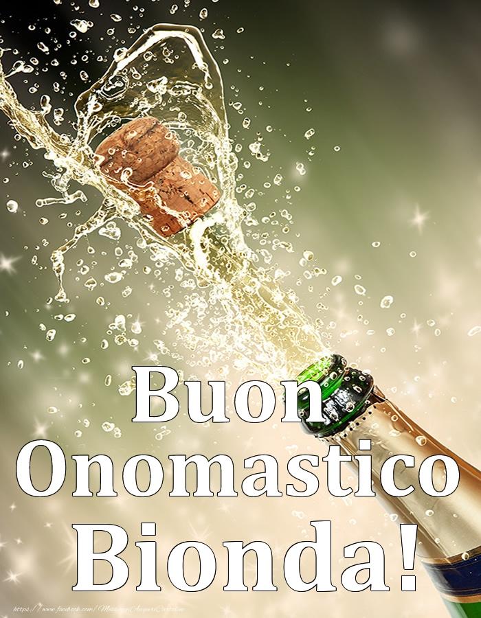 Cartoline di onomastico - Buon Onomastico Bionda!