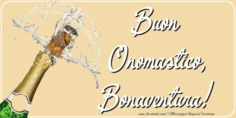 Cartoline di onomastico - Buon Onomastico, Bonaventura