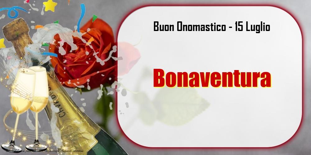 Cartoline di onomastico - Buon Onomastico, Bonaventura! 15 Luglio