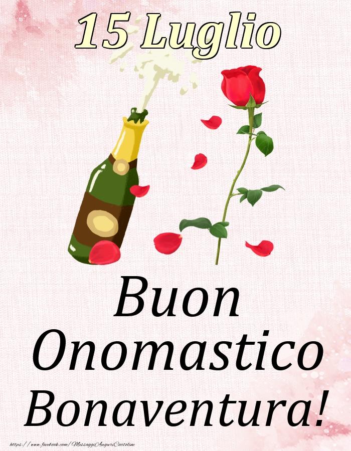 Cartoline di onomastico - Buon Onomastico Bonaventura! - 15 Luglio