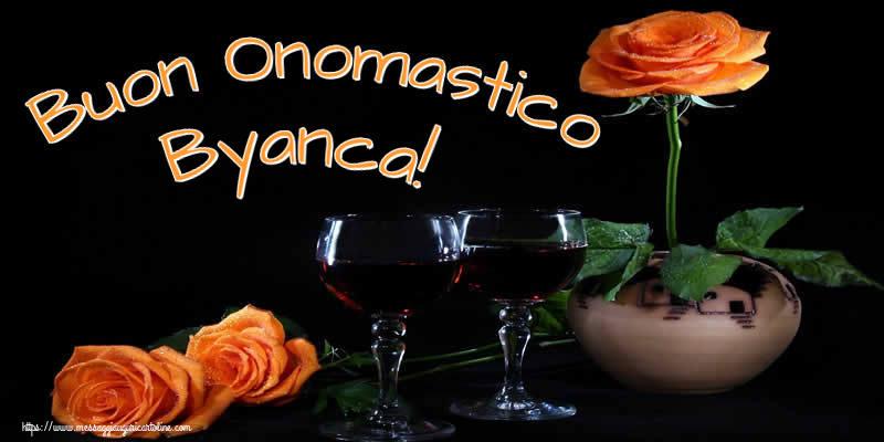 Cartoline di onomastico - Buon Onomastico Byanca!