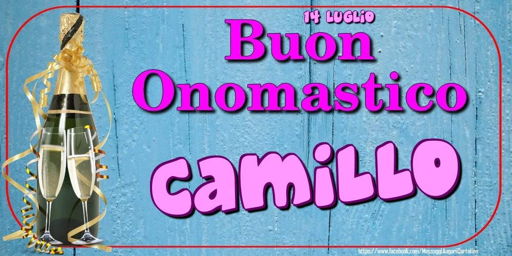 Cartoline di onomastico - 14 Luglio - Buon Onomastico Camillo!