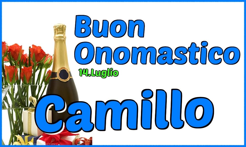 Cartoline di onomastico - 14.Luglio - Buon Onomastico Camillo!