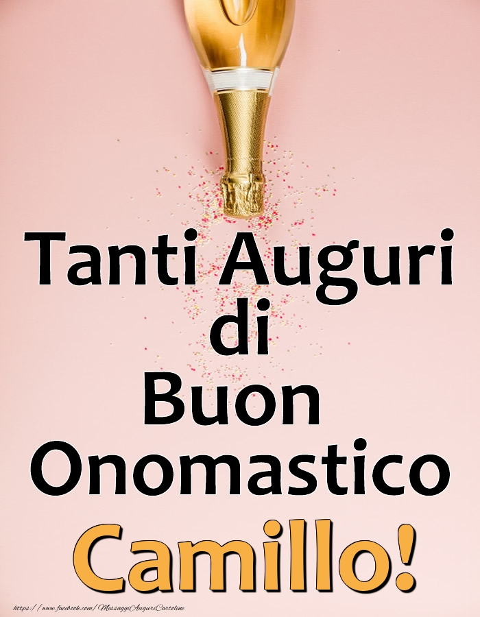 Cartoline di onomastico - Tanti Auguri di Buon Onomastico Camillo!
