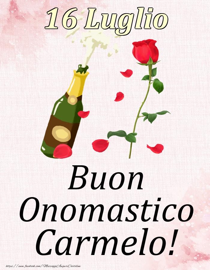 Cartoline di onomastico - Buon Onomastico Carmelo! - 16 Luglio