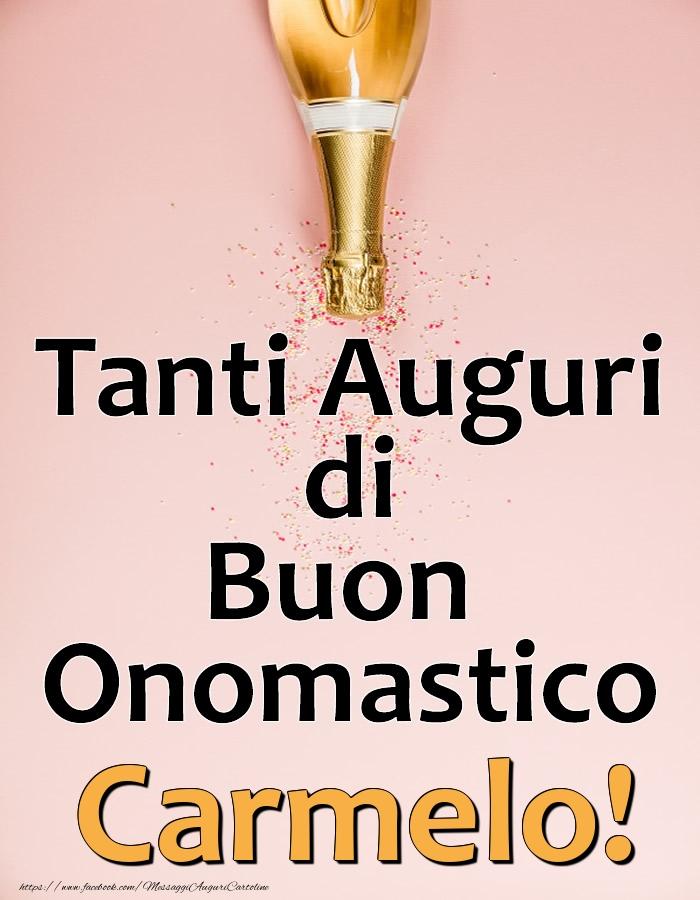 Cartoline di onomastico - Tanti Auguri di Buon Onomastico Carmelo!