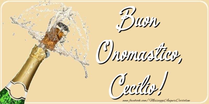 Cartoline di onomastico - Buon Onomastico, Cecilio