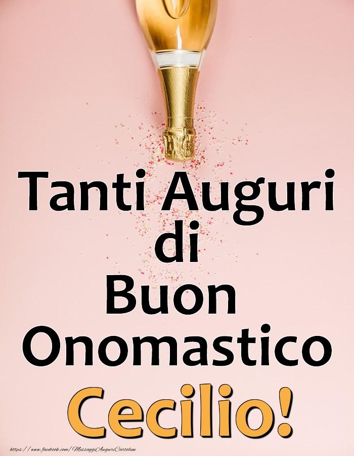 Cartoline di onomastico - Tanti Auguri di Buon Onomastico Cecilio!