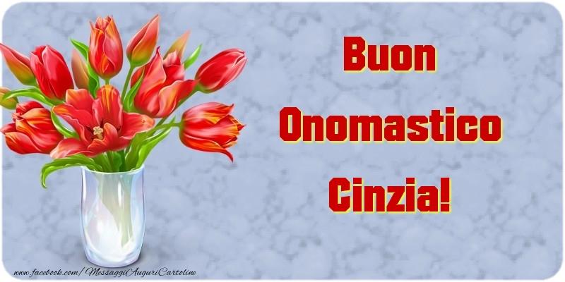 Cartoline di onomastico - Buon Onomastico Cinzia