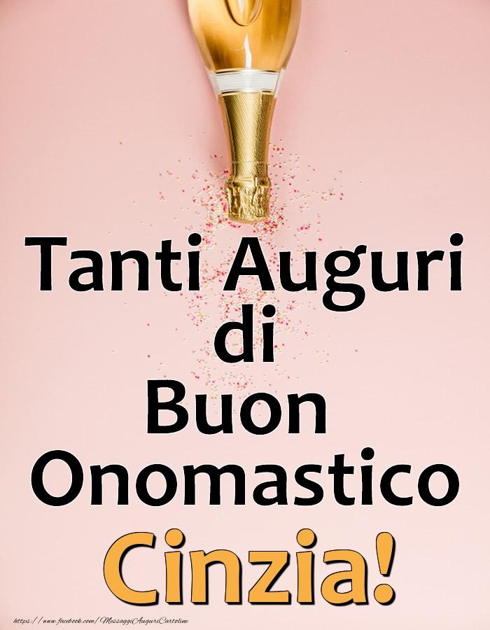 Cartoline di onomastico - Tanti Auguri di Buon Onomastico Cinzia!