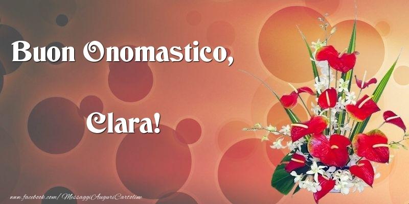 Cartoline di onomastico - Buon Onomastico, Clara