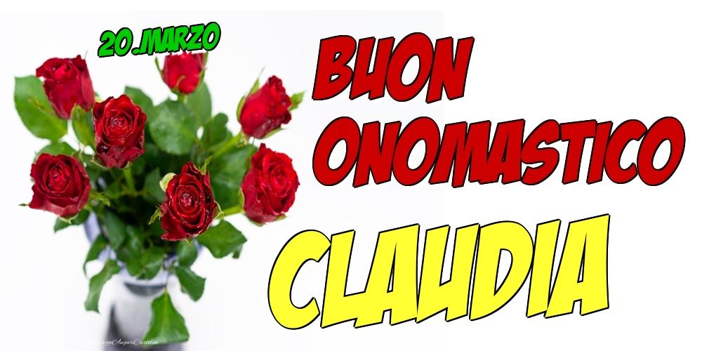 Cartoline di onomastico - 20.Marzo - Buon Onomastico Claudia!