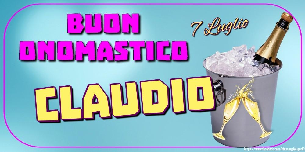 Cartoline di onomastico - 7 Luglio - Buon Onomastico Claudio!